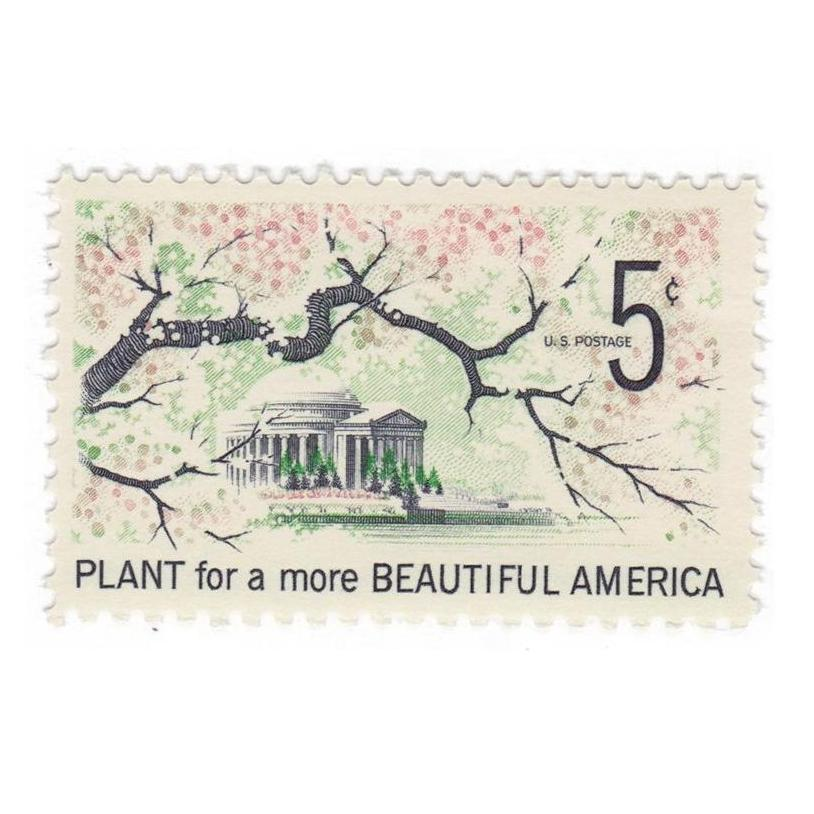 1966 5c Beautification of America - Cherry Trees