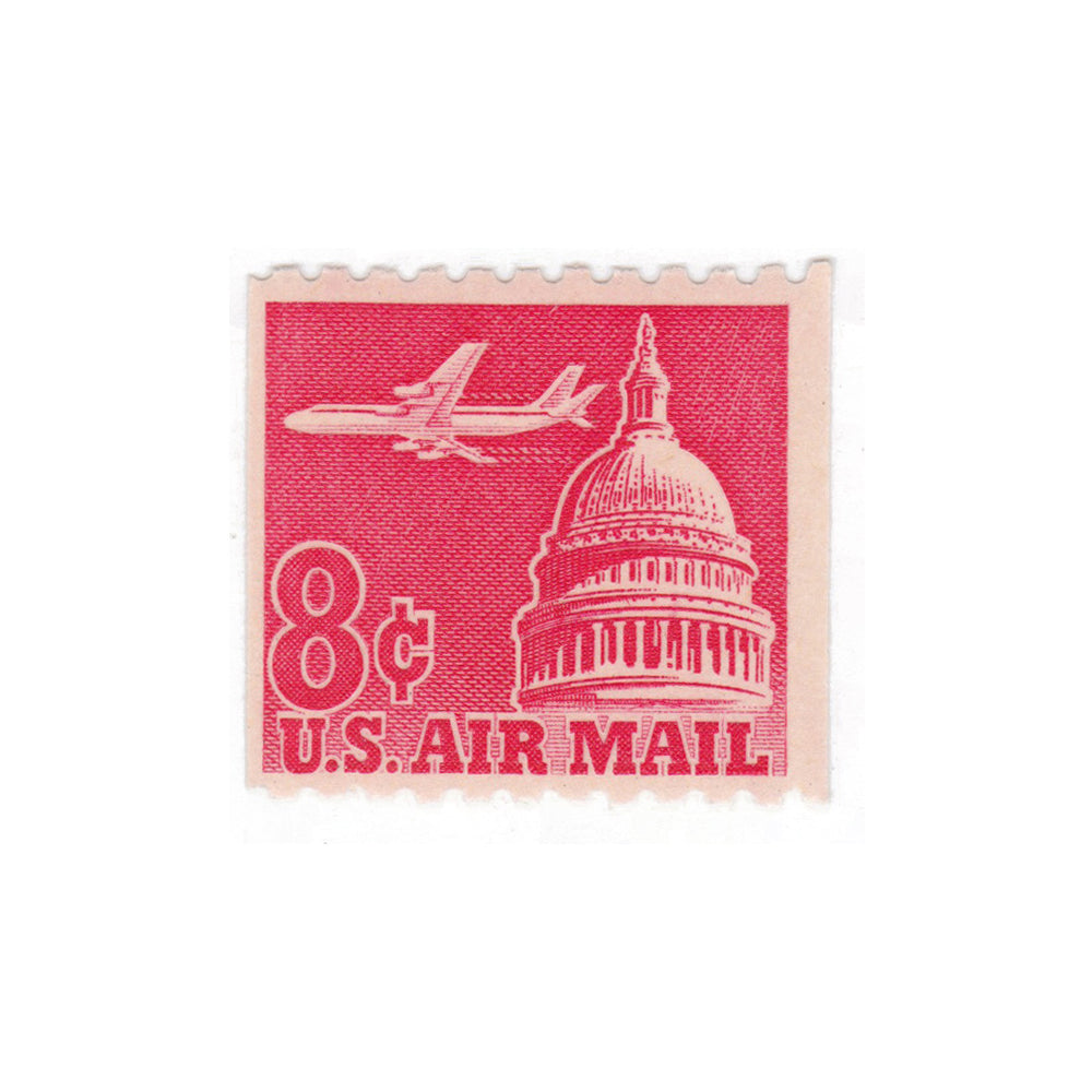 1962 8c Airmail Plane and Capitol