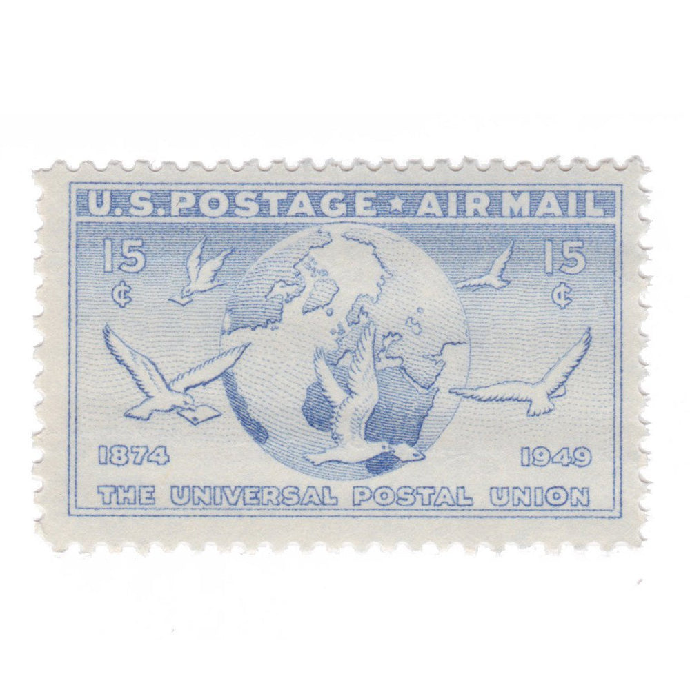 1949 15c Airmail Globe and Doves