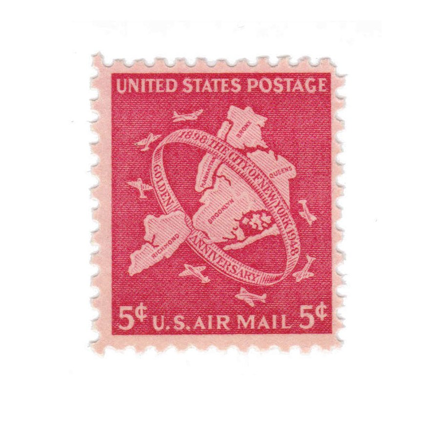 1948 5c Airmail New York City Jubilee