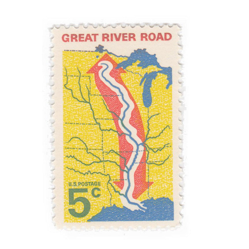 1966 5c Great River Road