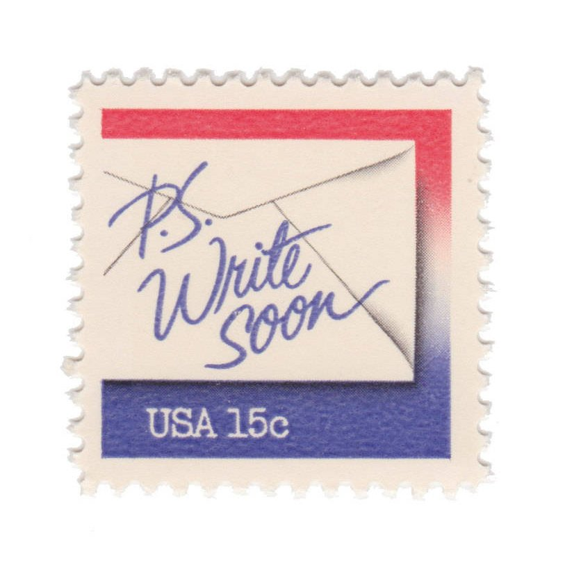 1980 15c Letter Writing - P. S. Write Soon