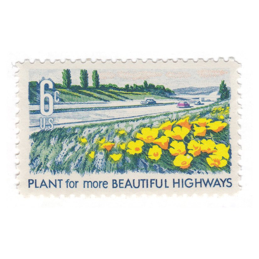 1969 6c Beautification of America Series - Poppies