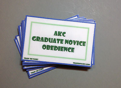 AKC Graduate Novice Obedience Task Card Pack