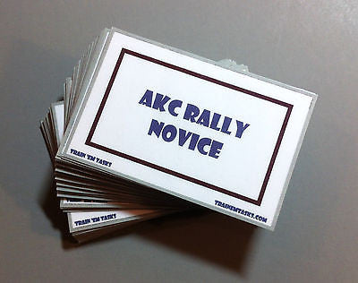 AKC Rally Obedience Novice Task Card Pack