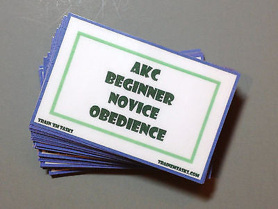 AKC Beginner Novice Obedience Task Card Pack