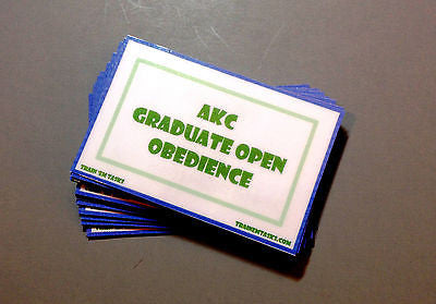 AKC Graduate Open Obedience Task Card Pack