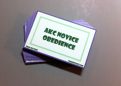 AKC Novice Obedience Task Card Pack