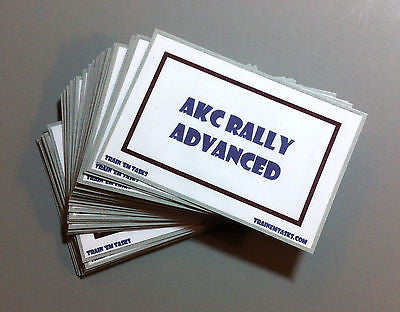 AKC Rally Obedience Advanced Task Card Pack
