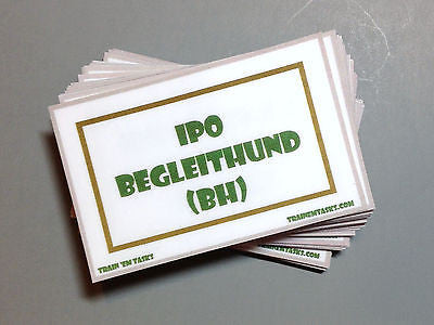 IPO BH Training Task Card Pack