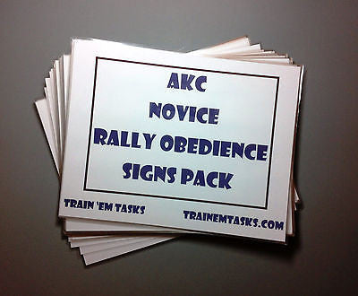 Full Size AKC Rally Novice Signs