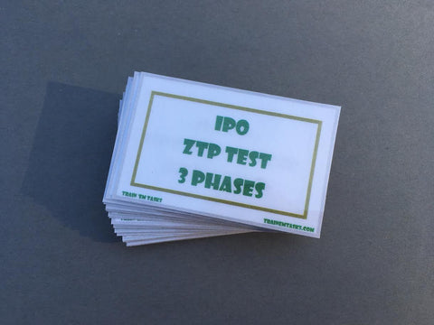 IPO ZTP/BST Training Task Card Pack