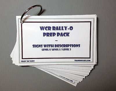 WCRL Rally Obedience Prep Pack