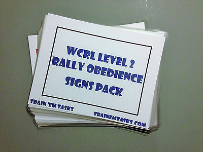 Full Size WCRL Rally Level 2 Signs