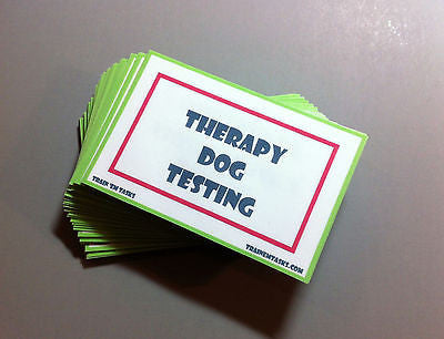 Therapy Dog Testing Task Card Pack
