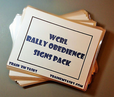 Full Size WRCL Rally Signs Levels 1 - 3