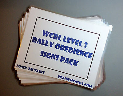Full Size WCRL Rally Level 3 Signs