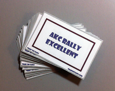 AKC Rally Obedience Excellent Task Card Pack