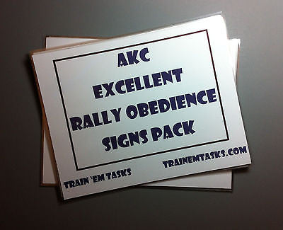 Full Size AKC Rally Excellent Signs
