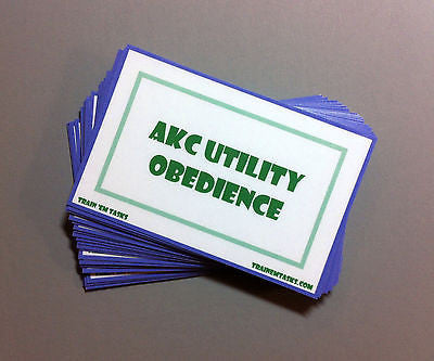 AKC Utility Obedience Task Card Pack