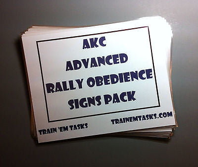 Full Size AKC Rally Advanced Signs
