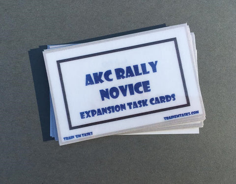 AKC Rally Obedience Novice Expansion Task Card Pack