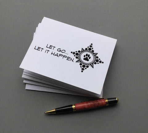 Compass Let Go... Blank Note Cards