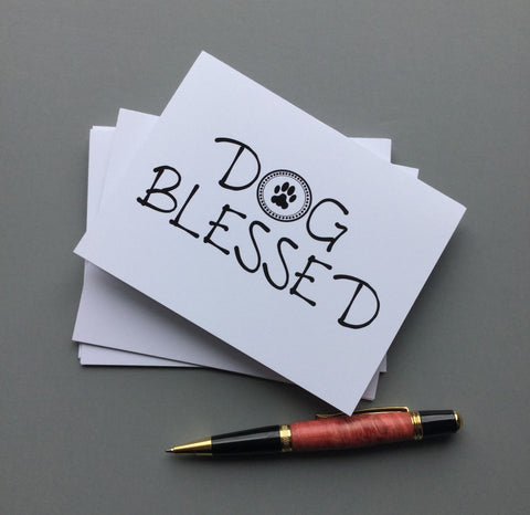 Dog Blessed Blank Note Cards