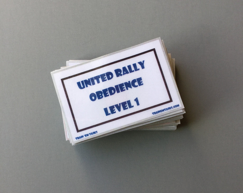 UKC Rally Obedience Level 1 Task Card Pack