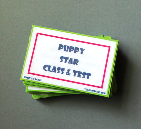 Puppy STAR Class and Test Task Card Pack