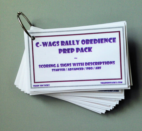 C-WAGS Rally Obedience Prep Pack