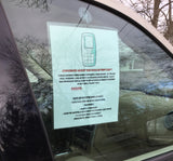 Cold Weather or Cold Car Emergency Contact Sheet