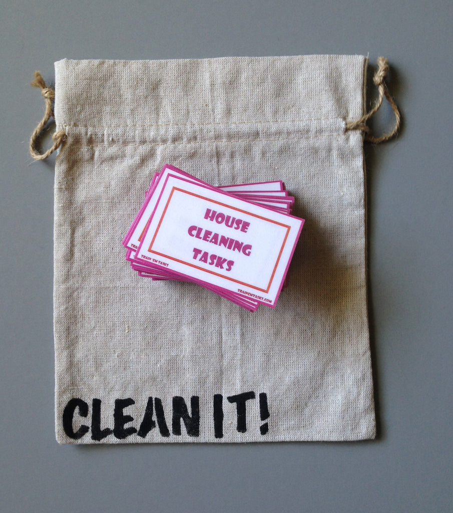 House Cleaning Task Card Pack with grab bag