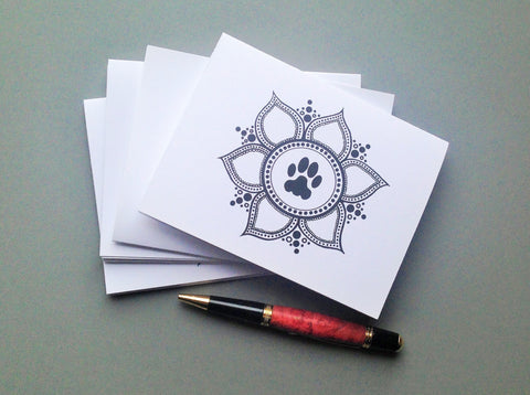 Paw Lotus 2015 Blank Note Cards