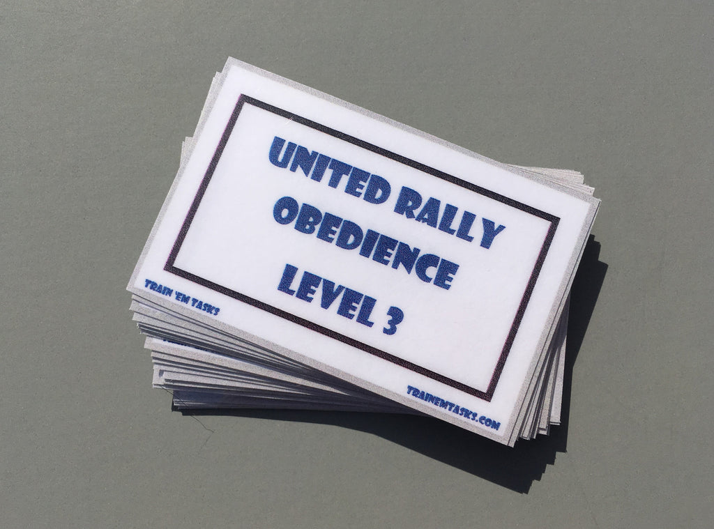 UKC Rally Obedience Level 3 Task Card Pack