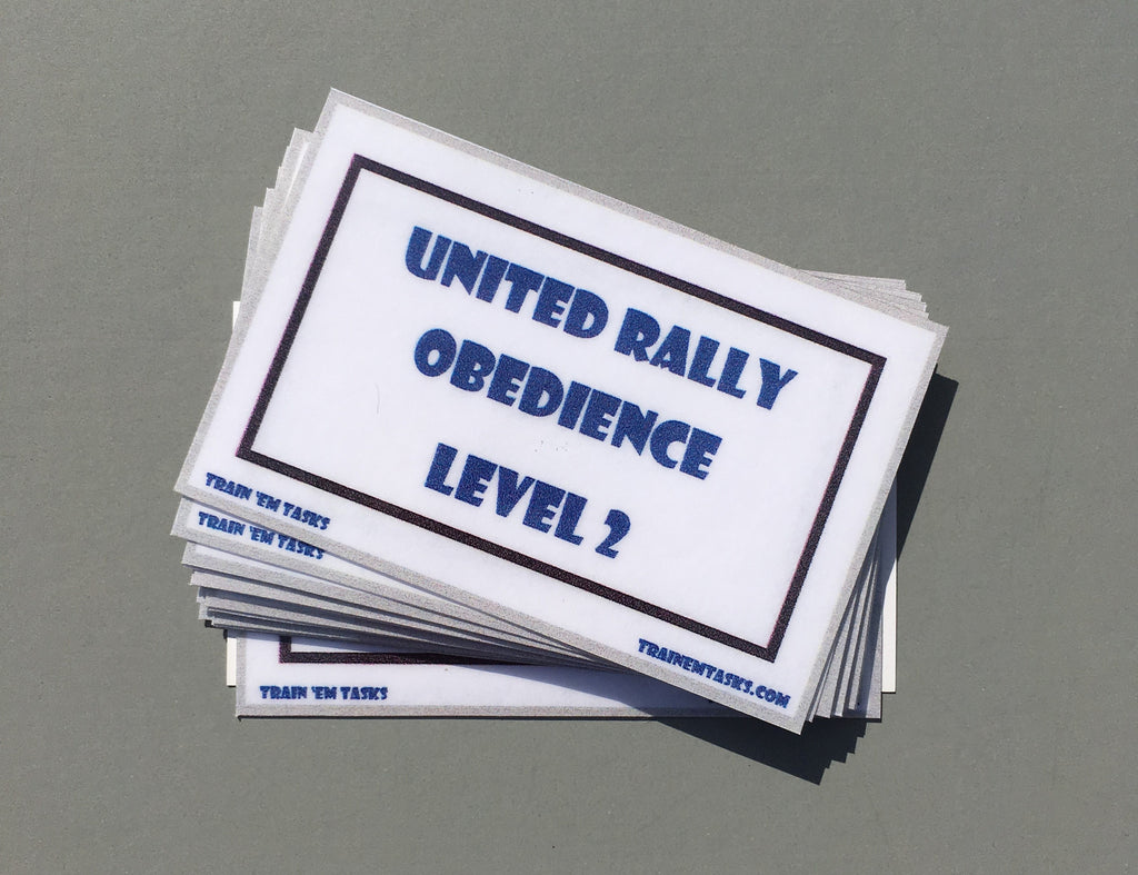 UKC Rally Obedience Level 2 Task Card Pack