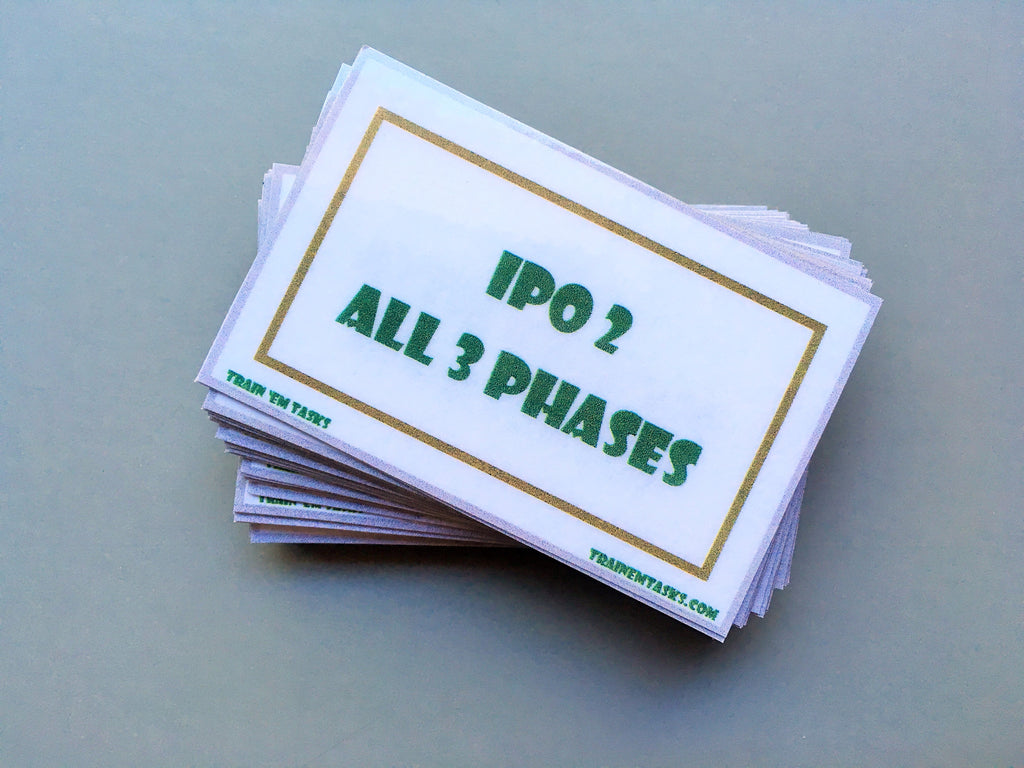 IPO2 Training Task Card Pack
