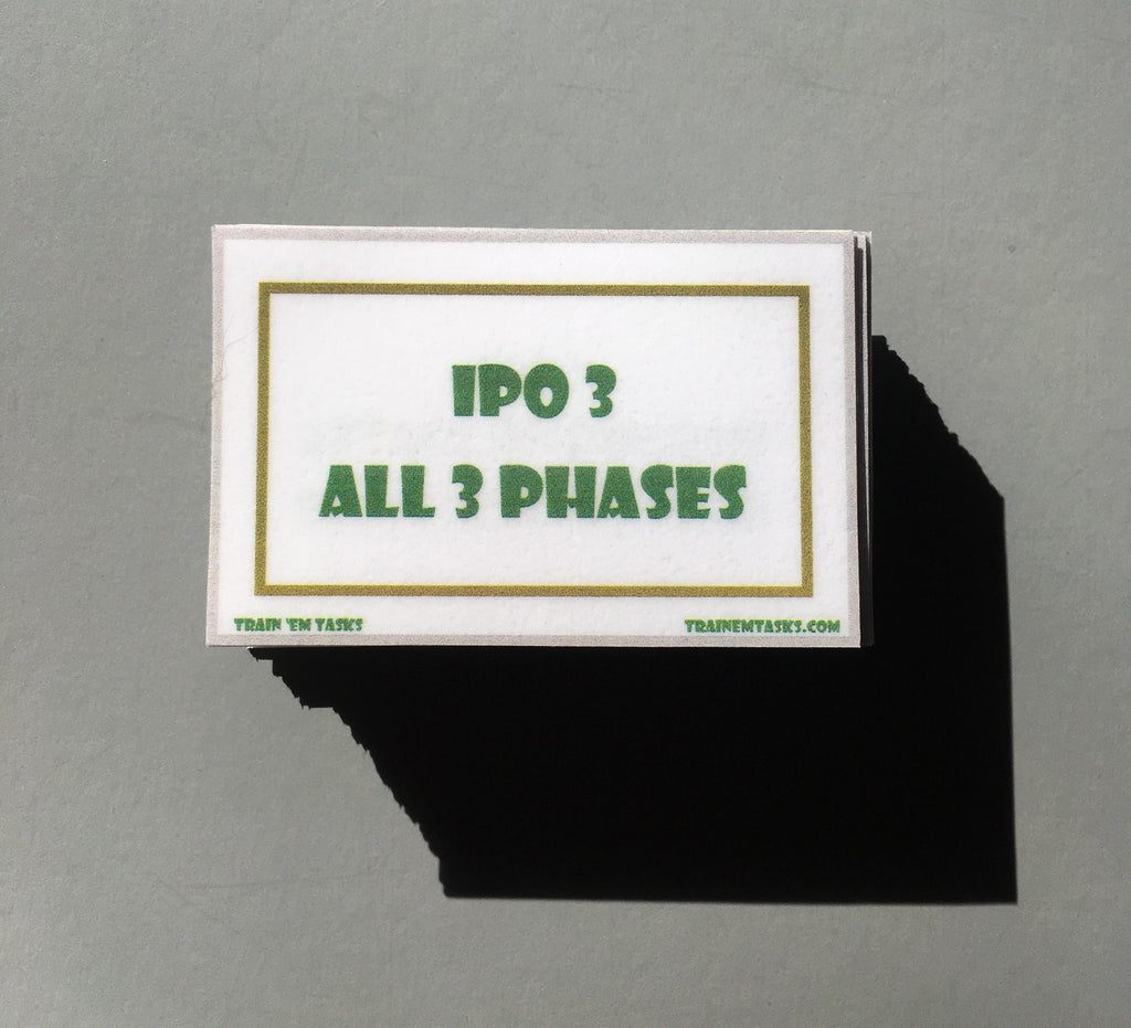 IPO3 Training Task Card Pack