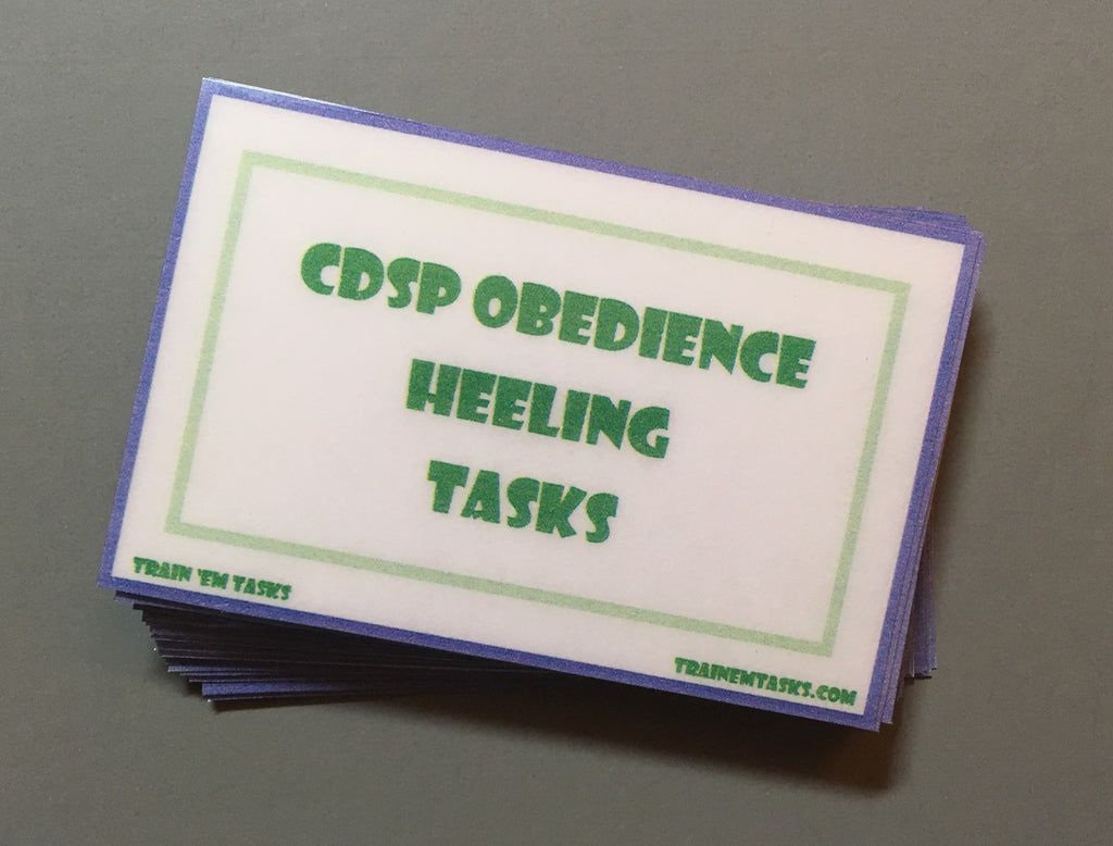 CDSP Obedience Heeling Task Card Pack