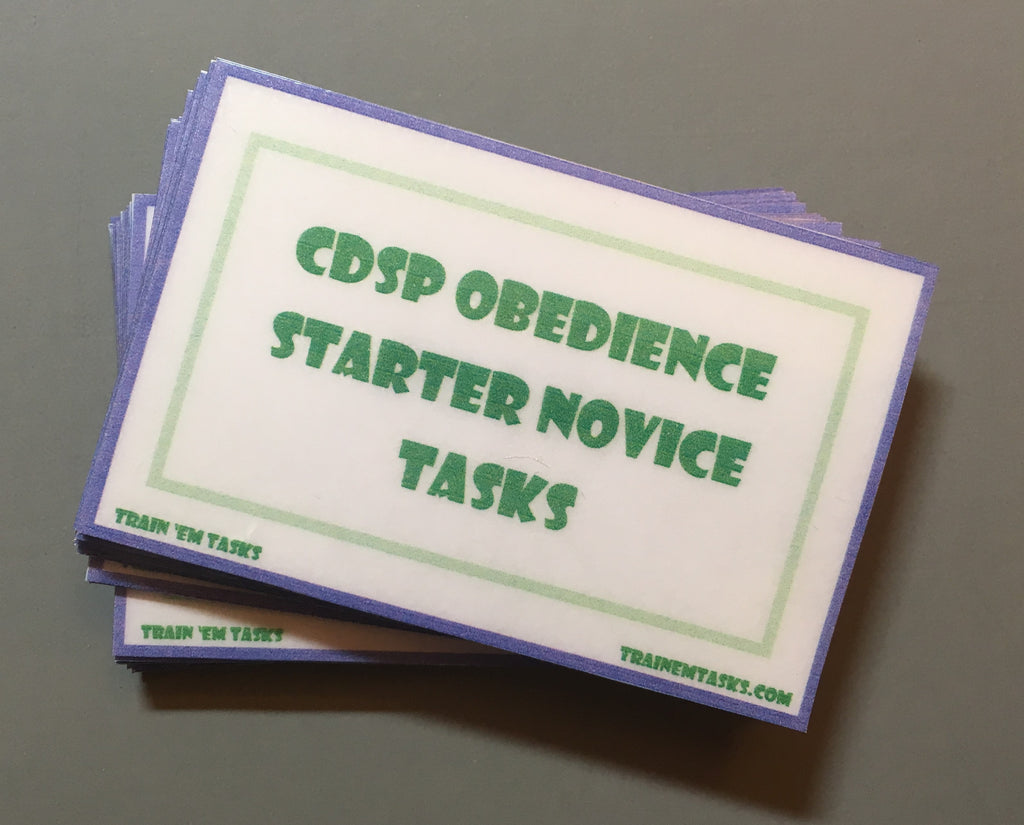 CDSP Starter Novice Obedience Task Card Pack