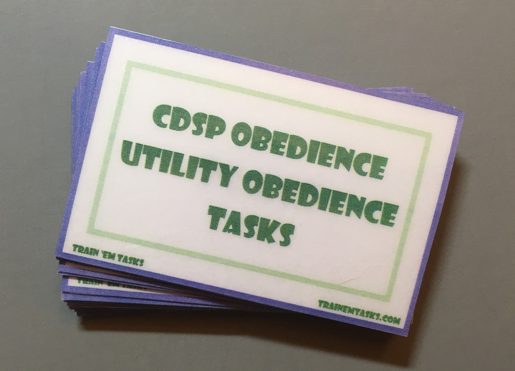 CDSP Utility Obedience Task Card Pack