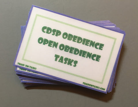 CDSP Open Obedience Task Card Pack