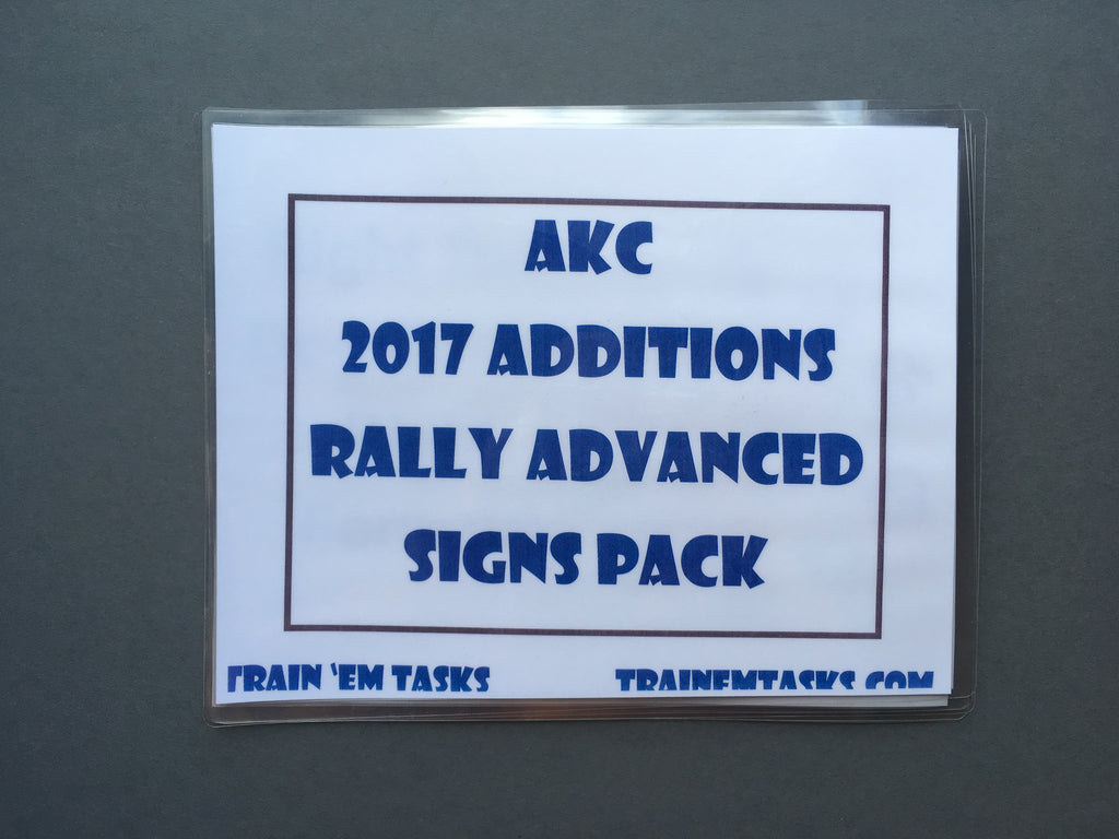 Full Size AKC 2017 Rally Advanced/Intermediate Expansion Set