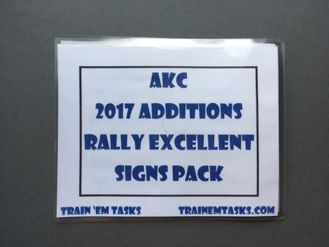 Full Size AKC 2017 Rally Excellent Expansion Set