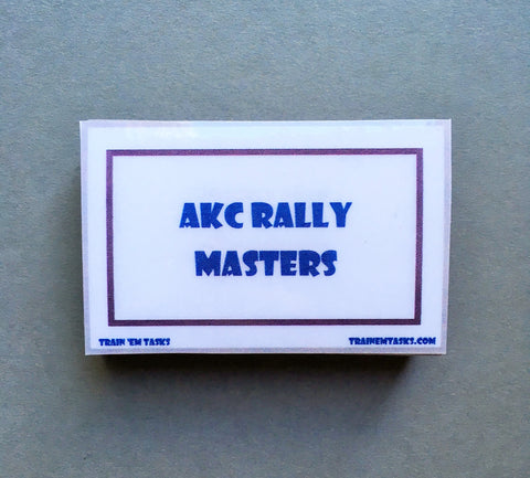 AKC Rally Obedience Masters Task Card Pack
