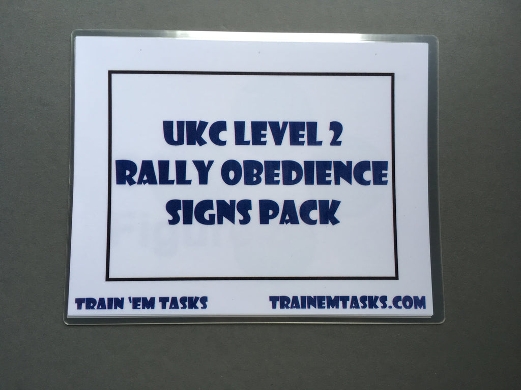 Full Size UKC Rally (URO) Level2 Signs