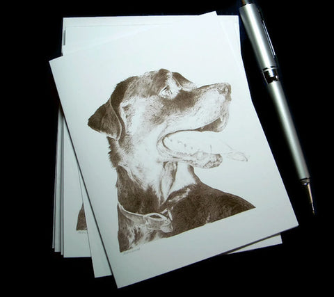 Rottweiler Blank Note Cards
