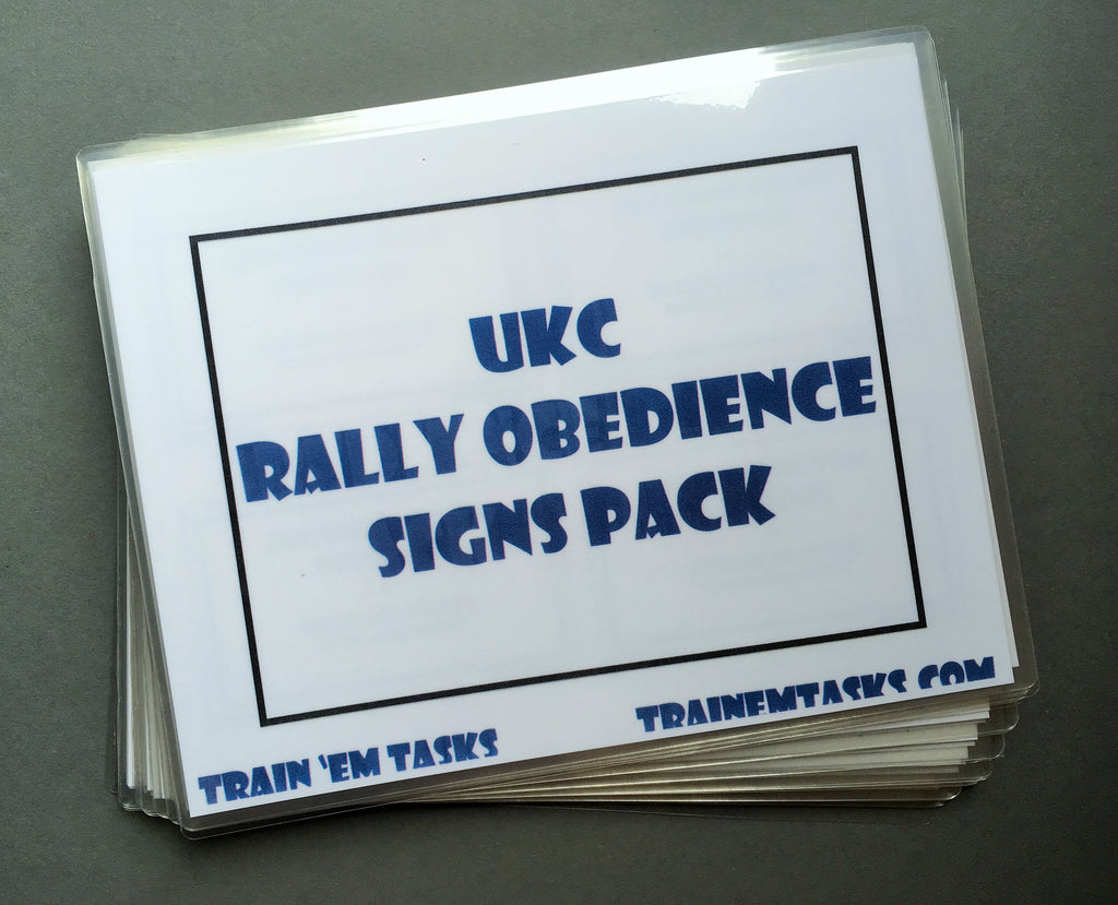 Full Size UKC Rally (URO) Level 1 - 3 Signs
