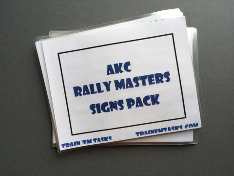 Full Size AKC Rally Masters Signs