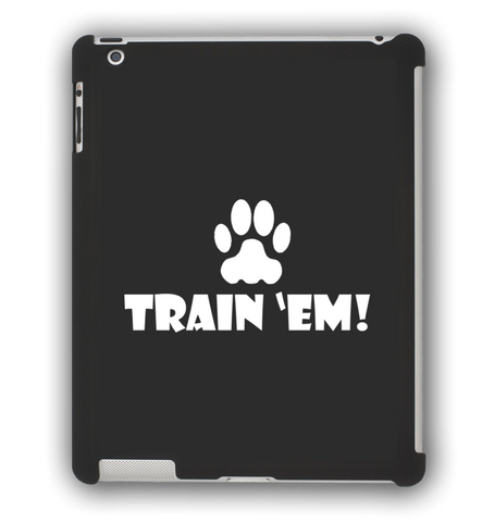 Train 'Em Black iPad Case